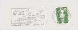 FRANCE. FRAGMENT. ARPAJON. BRIDGE. 1990. FLAMME - Marcofilia (sobres)