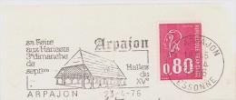 FRANCE. FRAGMENT. ARPAJON. 1976 FLAMME - Marcofilia (sobres)