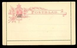 POSTHISTORIE * ONGEBRUIKTE POSTBLAD * OPDRUK 3 CENT  (10.119N) - Postal Stationery