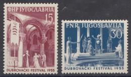 Yugoslavia Republic 1955 Mi#761-762 Mint Hinged - Ongebruikt