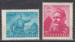 Yugoslavia Republic 1951 Mi#660-661 Mint Hinged - 1945-1992 República Federal Socialista De Yugoslavia