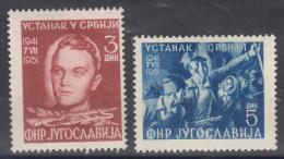 Yugoslavia Republic 1951 Mi#658-659 Mint Hinged - 1945-1992 República Federal Socialista De Yugoslavia