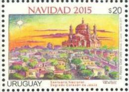 Uruguay 2015 ** Navidad. Santuario Sagrado Corazón De Jesús.  See Desc. - Iglesias Y Catedrales