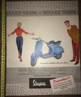 PUB PUBLICITE RARE SCOOTER VESPA 1960 TRES BELLE ILLUSTRATION - Collections