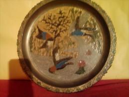 """§§§PRIX REDUIT§§§ ASSIETTE """"décorative""""ASIATIQUE ? EN LAITON EMAILLE TRES BELLE DECO Voir Photo Et Détails ! - Art Asiatique"""