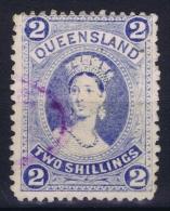 Queensland:  Mi 63 Used  1882  Thick Paper - 1860-1909 Queensland