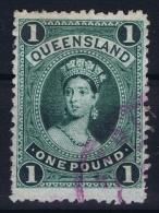 Queensland:  Mi 62 Y   Used   1882  Thin Paper - 1860-1909 Queensland