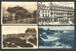 BIARRITZ - Rocher De La Vierge - Roche Du Basta - Plateau De L'Atalaye - Hôtel De Bayonne Et Métropole - Biarritz