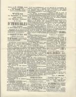 SAINT GERMAIN DE LA COUDRE AFFICHETTE DE VENTE DE 2 LOTS D IMMEUBLES DU DOCTEUR TATHEOSSIAN DE BAGDAD ANNEE 1926 - Plakate