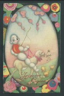 Chiostri. Pasqua. Joyeuses Pâques. Carte Rare.  261.    Voyagée.  2 Scans. - 1900-1949