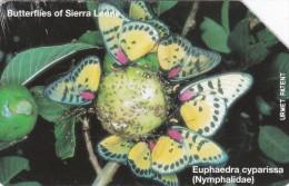 Sierra Leone, SRL-13, Euphaedra Cyparissa, Butterfly, 2 Scans. - Sierra Leone