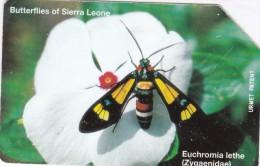 Sierra Leone, SRL-11, Euchromia Lethe, Butterfly, 2 Scans.