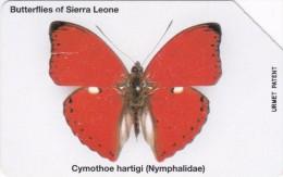Sierra Leone, SRL-10, Cymothoe Hartigi, Butterfly, 2 Scans. - Sierra Leone