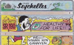 Seychelles, SEY-24, Healthy For Life, 2 Scans.    CN : 311C - Seychellen