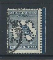 Australia 1913 2 & 1/2d Kangaroo Perfin Large OS Attractive Used Some Faults - 1913-48 Kangaroos