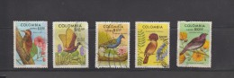 O) 1977 COLOMBIA, BIRDS, CTO, MINT, SET XF - Colombie