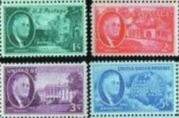 1945 USA Franklin D Roosevelt Stamps Sc#930-933 Famous White House Freedom - Verenigde Staten