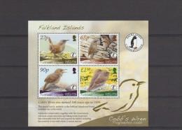 2009 Falkland Islands Bird WWF Cobb´s Wren Full Sheet MNH - Falkland Islands