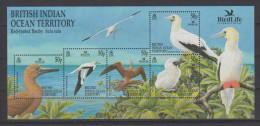 2002 BIOT Bird Life International Red Footed Booby Mini Sheet Of 5 MNH - British Indian Ocean Territory (BIOT)