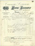 Facture De La Ste Tannerie.Corroirie Henri Barrault à Limoges Le 16 Juillet 1898 - 1800 – 1899