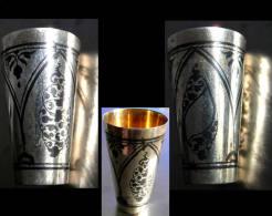 Ancien Verre à Vodka Russe Argent Et Or / Old Russian Silver And Gold Vodka Glass I - Art Oriental