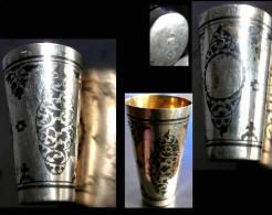 Ancien Verre à Vodka Russe Argent Et Or / Old Russian Silver And Gold Vodka Glass I - Argenterie