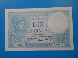 10 Francs Minerve 30-7-1927 Fayette 6/12 SUP+ - 10 F 1916-1942 ''Minerve''