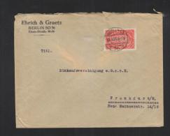Dt. Reich Brief 1923 Lochung Ehrich & Gratz - Briefe U. Dokumente