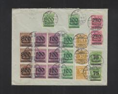 Dt. Reich Brief 1923 Kruft Rheinland Nach Frankfurt Am Main - Briefe U. Dokumente