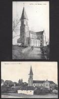 QUEZAC  - 2 Cartes - L'église  - Voir Scan - Autres Communes