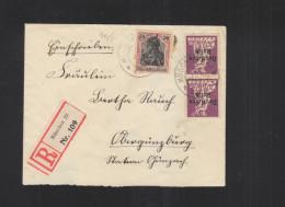 Dt. Reich R-Brief 1920 München MiF Mit Germania - Briefe U. Dokumente
