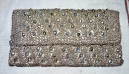 MAGNIFIQUE POCHETTE VINTAGE ANCIENNE ARGENTE AVEC PERLE  / PARFAIT ETAT - Purses & Bags