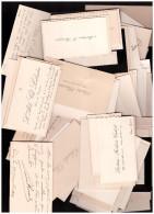 Lot D'environ 80 Cartes De Visite , Essentiellement Du Gers, Certaines Avec Qqs Mots Manuscrits (PPP0820) - Visiting Cards
