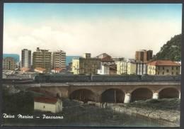 DEIVA MARINA - Panorama Con Ponte Della Ferrovia E Treno - Viaggiata Nel 1965 - Editore Groppi - Other Cities