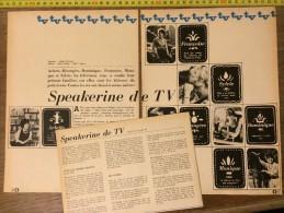 DOCUMENT PHOTO SPEAKERINE DE TV FRANCOISE ARLETE BERANGERE SYLVIE MONIQUE DOMINIQUE - Vieux Papiers
