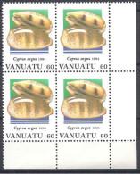 1994 VANUATU 951+ 952** Coquillages, Issus De Série, Blocs De 4 - Vanuatu (1980-...)