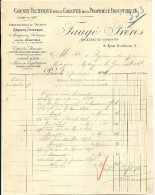 PARIS   FAUGE FRERES  Cabinet Technique Pour La Garantie De La Propriete Industrielle  3.01.1899 - France