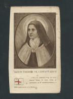 L2058 -  Image Pieuse  Avec Relique Sainte Thérèse De L´enfant Jésus - Santini