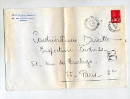 Lettre Cachet Paris Taxe T - Marcofilie (Brieven)