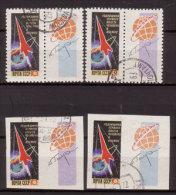Sowjetunion , 1962 , Mi.Nr. 2587 A A / 2587 A B / 2587 B A / 2587 B B  O - 1923-1991 UdSSR