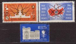Sowjetunion , 1962 , Mi.Nr. 2637 / 2638 / 2639 O - 1923-1991 UdSSR