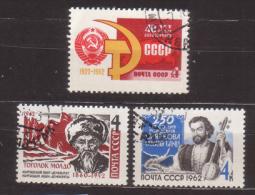 Sowjetunion , 1962 , Mi.Nr. 2673 - 2675 O - 1923-1991 UdSSR