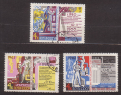 Sowjetunion , 1962 , Mi.Nr. 2677 - 2679 O - 1923-1991 UdSSR