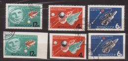 Sowjetunion , 1964 , Mi.Nr. 2895 A - 2897 A / 2895 B - 2897 B O - 1923-1991 UdSSR