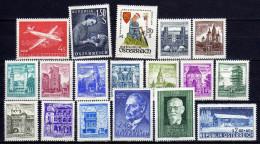 Österreich 1958 Jahrgang, Mi 1041-1058 * (ohne Mi 1040) [121215ApKIII-01] - 1945-60 Neufs