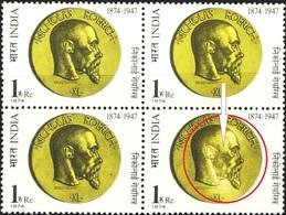 ART-PAINTER-NICHOLAS ROERICH-BLOCK OF 4-VARIETY-INDIA-1974-MNH-B6-687 - India