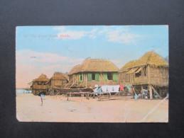 AK 1928 On Tondo Beach. Manila. USA. Nach Deutschland Vie Sibiria. Interessante Karte - Philippinen