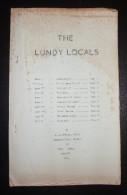 The Lundy Locals - 1956 - 30 Pages - Petits Defauts - Frais De Port 2.00 Euros - Littérature