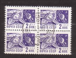 Sowjetunion , 1968 , Mi.Nr. 3496 O 4er - 1923-1991 URSS