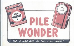 Buvard /Piles WONDER//Vers 1950       BUV250 - Batterie